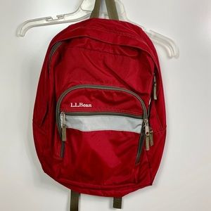 L.L. Bean book bag backpack red